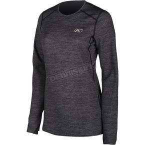 Women's Black Heather Solstice 1.0 Base Layer Shirt