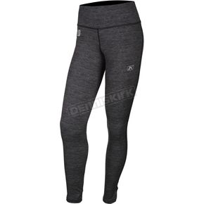Women's Black Heather Solstice 1.0 Base Layer Pants