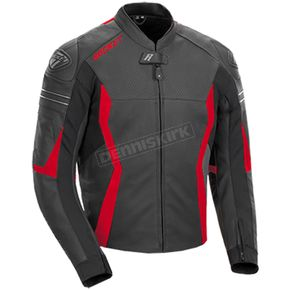 Black/Red GPX Leather Jacket