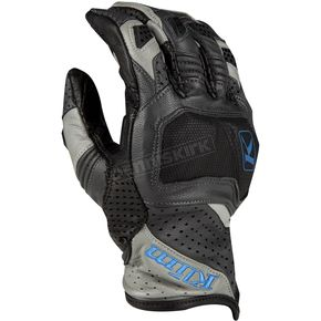 Gray/Kinetik Blue Badland Aero Pro Short Gloves