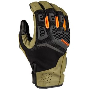 Sage/Strike Orange Baja S4 Gloves
