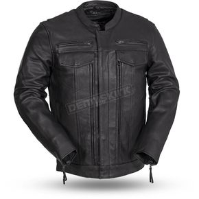Black Raider Leather Jacket