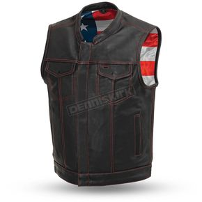 Black Born Free Leather Vest