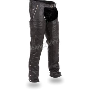 Black Patriot Thermal Leather Chaps