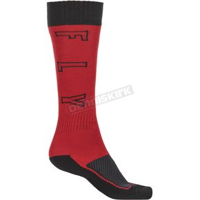 Youth Red/Black Thick MX Socks - 350-0515Y