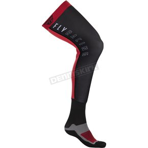 Red/Black Knee Brace Socks
