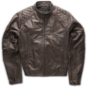 Brown Compton Leather Jacket - SCOMPLJ-BN-L