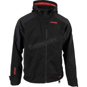 Black/Red Evolve Shell Jacket - F03000601-140-002