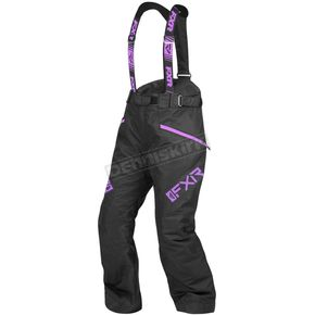 Women's Black/Lilac Fresh Pants