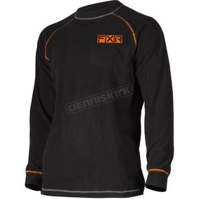 Black/Orange Pyro Tenacious Merino Longsleeve