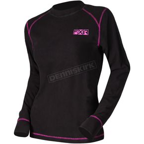 Women's Black/Electric Pink Pyro Thermal Longsleeve