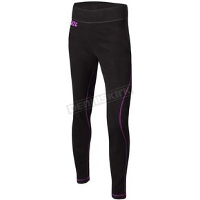 Women's Black/Electric Pink Pyro  Thermal Pants