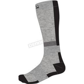 Grey Heather/Black Mission Performance Socks