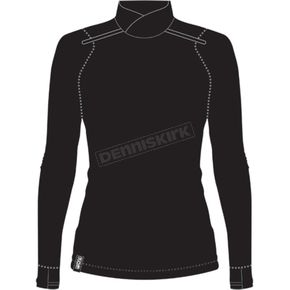Women's Black/Electric Pink Endeavor Merino Turtleneck