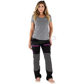 Women's Black/Electric Pink Industry Pants