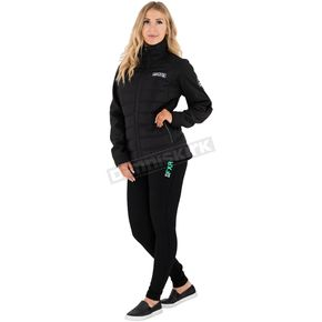 Women's Black/Mint Factory Fleece Leggings
