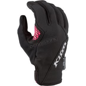 Womans Black/Knockout Pink Versa Gloves