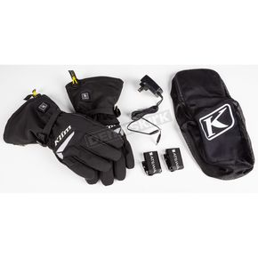 Black Resistor Heated Gauntlet Gloves