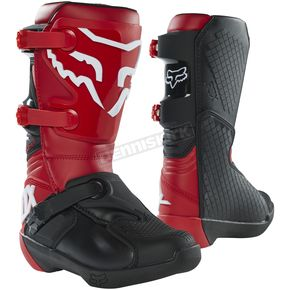 Youth Flame Red Comp Boots