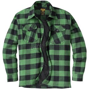 Green/Black Covert Moto Flannel Shirt