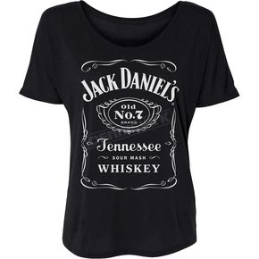 Women's Black Drapey Label T-Shirt