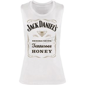 Women's White TN Honey Muscle Tank