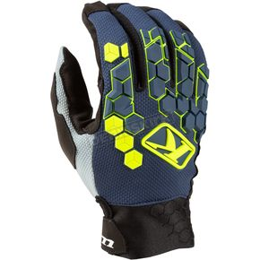 Vivid Blue Dakar Gloves