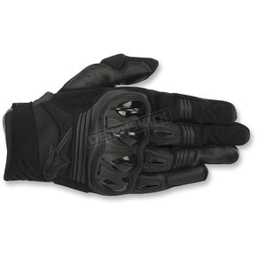Alpinestars Black Megawatt Hard Knuckle Gloves - 3565018-10-XL