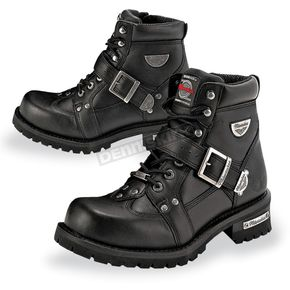 Milwaukee Motorcycle Clothing Co. Mens Road Captain Leather Boots - MB43323