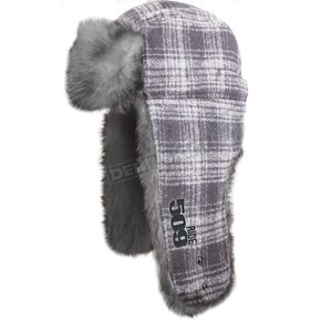 509 White Trapper Fur Hat - 509-HAT-F3W