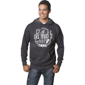 509 Black Heather Evolution Pullover Hoody - 509-CLO-E15H-MD