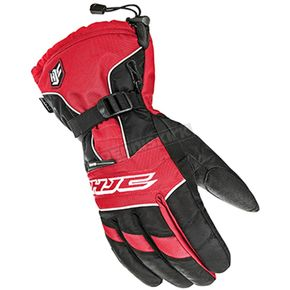 HJC Black/White/Red Storm Gloves - 1511-016