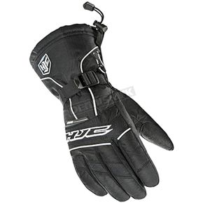 HJC Women's Black/White Storm Gloves - 1513-064