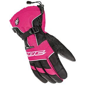 HJC Women's Black/Pink Storm Gloves - 1513-085
