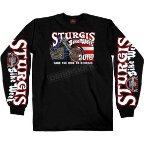 Hot Leathers Black Sturgis King N Queen Long Sleeve Shirt - SPM2495-M
