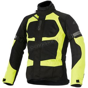 Alpinestars Black/Fluorescent Yellow Santa Fe Air Drystar Jacket - 3206416-155-L