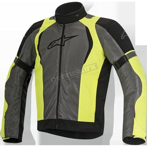 Alpinestars Black/Fluorescent Yellow Amok Air Drystar Jacket - 3207716-1015-2X