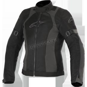 Alpinestars Women's Black/Gray Stella Amok Air Drystar Jacket - 3217716-111-L