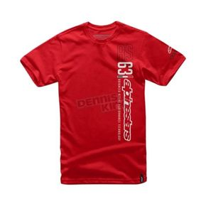 Alpinestars Red Leaderboard T-Shirt - 101672036030M