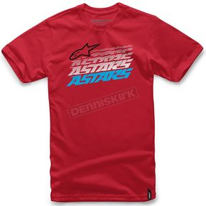 Alpinestars Red Hashed T-Shirt - 101672007030L