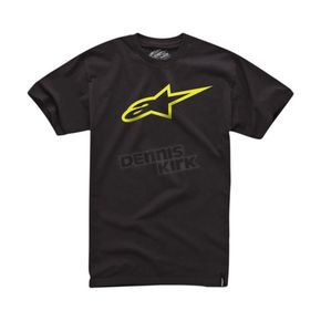 Alpinestars Black/Yellow Ageless T-Shirt - 1032720301050XL