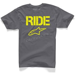 Alpinestars Charcoal Ride Solid T-Shirt - 10257200718L
