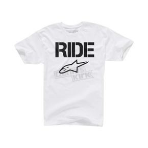 Alpinestars White Ride Solid T-Shirt - 102572007020L