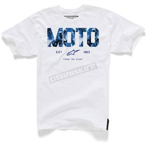 Alpinestars White Moto Start T-Shirt - 104572007020L