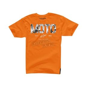 Alpinestars Orange Moto Start T-Shirt - 104572007402X