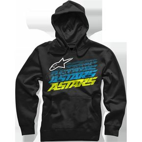 Alpinestars Black Hashed Hoody - 10165200110XL