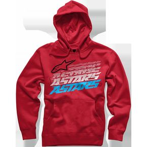 Alpinestars Red Hashed Hoody - 101652001030L