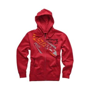 Alpinestars Red Precise Zip Hoody - 101653004030S
