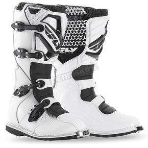Fly Racing White Maverik Boots - 364-56407