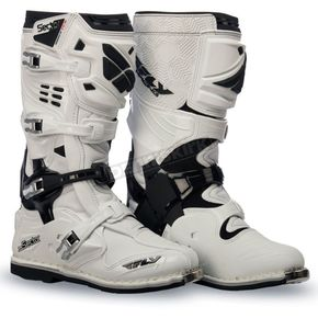 Fly Racing White Sector Boots - 363-57412